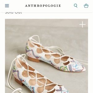 Billy Ella lace up flats from Anthropologie